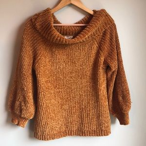 Hippie Rose gold cowl neck sweater large